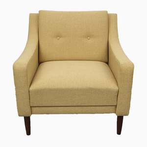 Yellow German Club Chair, 1950s