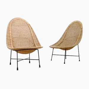 Swedish Stora Kraal Easy Chairs by Kerstin Hörlin-Holmquist for Nordiska Kompaniet, 1960s, Set of 2