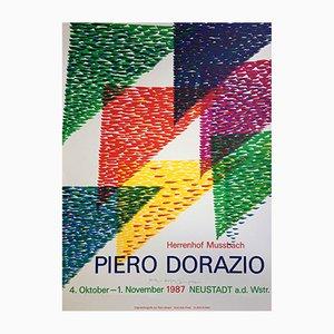 Poster della mostra di Piero Dorazio di Erker Press, Svizzera, 1987