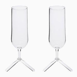 Tripod Champagner Gläser von Maarten Baptist für TH MANUFACTURE, 2er Set