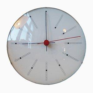 Horloge Murale Inventory Bankers par Arne Jacobsen pour Gefa, 1971