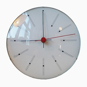 Inventory Bankers Wall Clock by Arne Jacobsen for Gefa, 1971