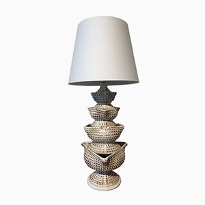 Vintage Fountain-Shaped Lamp
