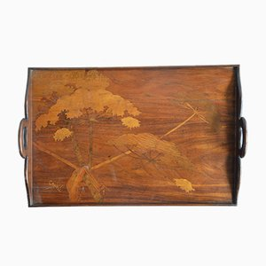 Inlaid Wooden Tray from Gallè