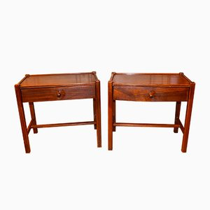 Tables de Chevet Mid-Century Scandinaves en Palissandre, Set de 2