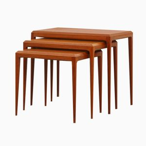 Danish Teak Nesting Tables by Johannes Andersen for Silkeborg, 1960s