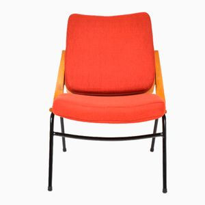 Red Vintage Side Chair from TON, 1960s