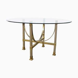 Brass & Glass Dining Table from Maison Jansen