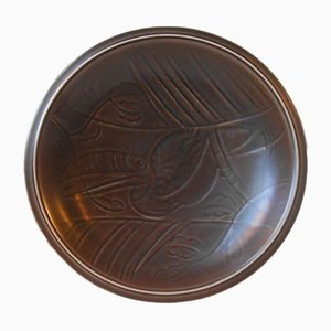Mid-Century Pelican Bowl by Nils Thorsson for Aluminia, 1950s