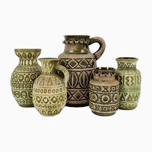 Deutsche Vintage Keramiken, 5er Set