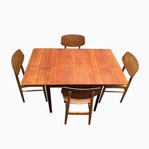 Chaises de Salon SB13 & Table par Cees Braakman pour Pastoe, 1950s, Set de 5