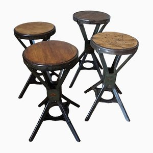 Industrial Stools from Evertaut, 1950s, Set of 4