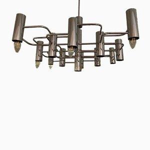Chrom Deckenlampe, 1970er