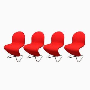 System 123 Stühle von Verner Panton für Fritz Hansen, 1973, 4er Set