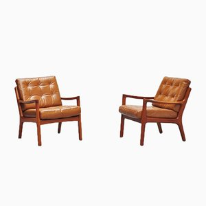 Model 166 Senator Chairs by Ole Wanscher for France & Søn, 1951, Set of 2