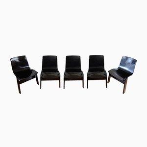 Tre 3 Stühle von Angelo Mangiarotti für Skipper, 1978, 5er Set
