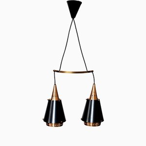 Vintage Scandinavian Copper Pendant