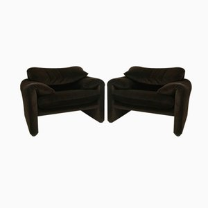 Mid-Century Maralunga Armchairs by Vico Magistretti for Cassina, Set of 2