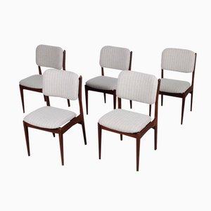 Esszimmerstühle von Louis van Teeffelen für Wébé, 5er Set