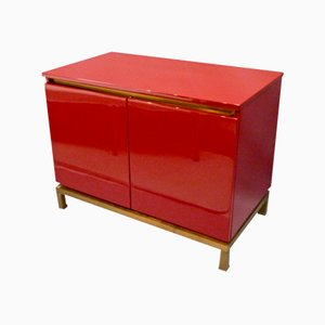 Lacquered Side Cabinet by Guy Lefevre for Maison Jansen, 1970s