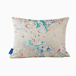 Grey Multi Crystalline Rectangular Cushion from Other Kingdom
