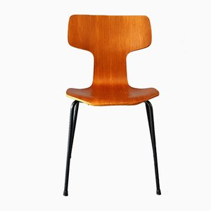Modell 3103 Hammer Stuhl von Arne Jacobsen für Fritz Hansen, 1964