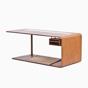 Custom Made Leather Desk from NK, 1965