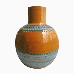 Vaso color ocra di Aldo Londi per Bitossi, Italia