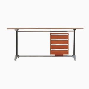 Mid-Century Italian Teak Desk by Alberto Rosselli & Gio Ponti