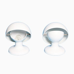 White Jucker Lamps by Afra & Tobia Scarpa for Flos, 1965, Set of 2
