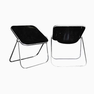 Plona Folding Chairs by Giancarlo Piretti for Anonima Castelli, 1970s, Set of 2