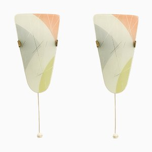 Lámparas de pared funcionalistas, años 50. Juego de 2