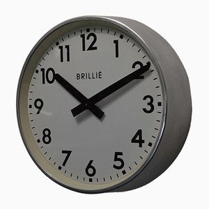 French Industrial Factory Clock from Brillié, 1950s