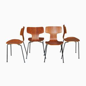 Teak Chairs by Arne Jacobsen for Fritz Hansen, 1960, Set of 4