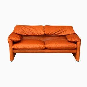 Vintage Maralunga Zwei- Sitzer Sofa von Vico Magistretti für Cassina