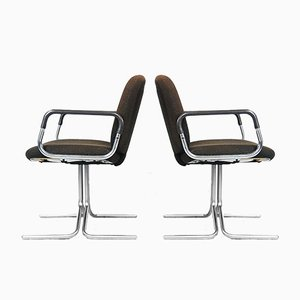 Brown Aluminum Chairs from Mauser, 1970s, Set of 2