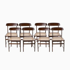 Lucio Costa Chairs in Brazilian Jacaranda by Sergio Rodrigues for Oca, Set of 8