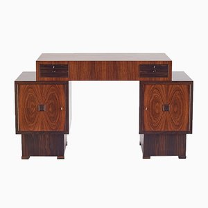 Art Deco Rosewood and Macassar Ebony Desk from 't Woonhuys Amsterdam, 1920s