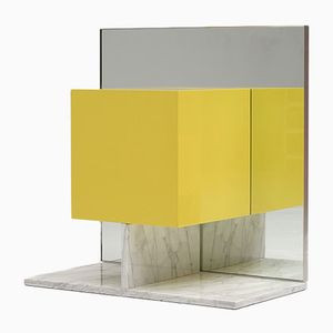 Mirror Cabinet with Marble Base by Pieter De Bruyne, 1974