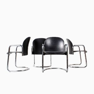 Vintage Dialogo Chairs by Afra & Tobia Scarpa for B&B Italia, Set of 4