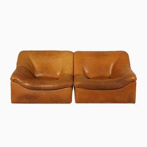 DS-46 Sessel aus Büffelleder von de Sede, 1970er, 2er Set