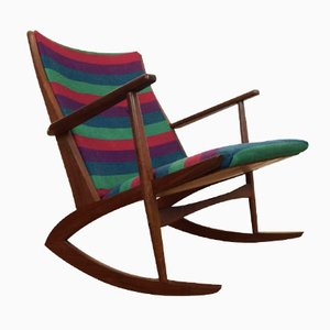 Danish Teak Rocking Chair by Soren Georg Jensen, 1950s