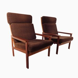 Vintage Teak Chairs by Illum Wikkelsø and Niels Eilersen, Set of 2