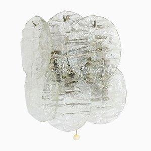 Eisglas Wandleuchte mit 4 Leuchten von Kalmar, 1960er