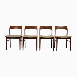 Vintage Teak Dining Chairs by Henning Kjaernulfs for Vejle Støle OG. Møbelfabrik, Set of 4