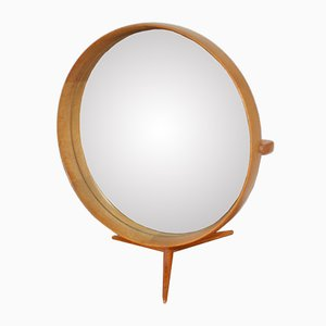 Wooden Framed Table Mirror by Uno & Osten Kristiansson for Luxus, 1960