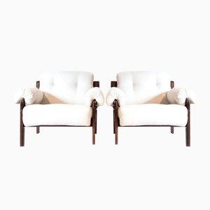 Brasilianische Vintage Sessel von Jean Gillon, 2er Set