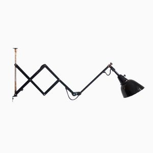 110 Scissor Lamp with Enameled Screen by Curt Fischer for Midgard