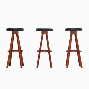 Danish Bar Stools by Hans Olsen for Frem Rojle, 1960s, Set of 3