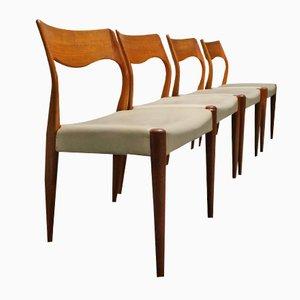 Model 71 Dining Chairs by Niels O. Møller for J. L. Møllers Møbelfabrik, 1959, Set of 4